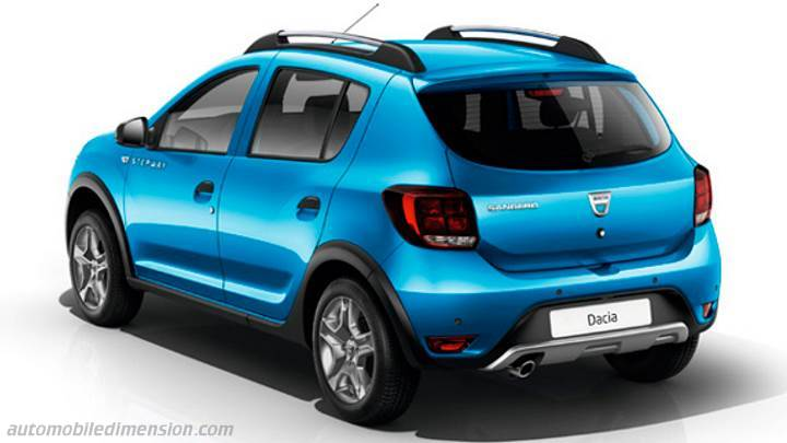 dacia sandero stepway 2017 dimensions boot space and interior. Black Bedroom Furniture Sets. Home Design Ideas