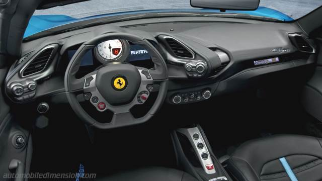 Ferrari 488 Spider 2016 dashboard