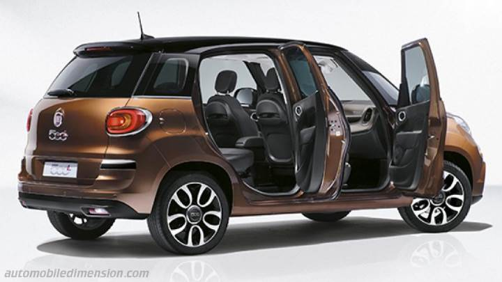 fiat 500l 2017 dimensions boot space and interior. Black Bedroom Furniture Sets. Home Design Ideas