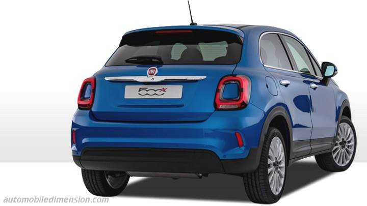fiat 500x 2019 abmessungen kofferraumvolumen und innenraum. Black Bedroom Furniture Sets. Home Design Ideas
