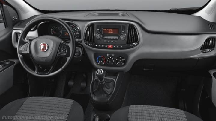 Fiat Doblò Maxi 2015 dimensions, boot space and interior