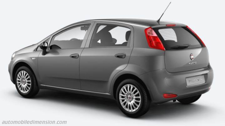 fiat punto 2012 dimensions boot space and interior. Black Bedroom Furniture Sets. Home Design Ideas