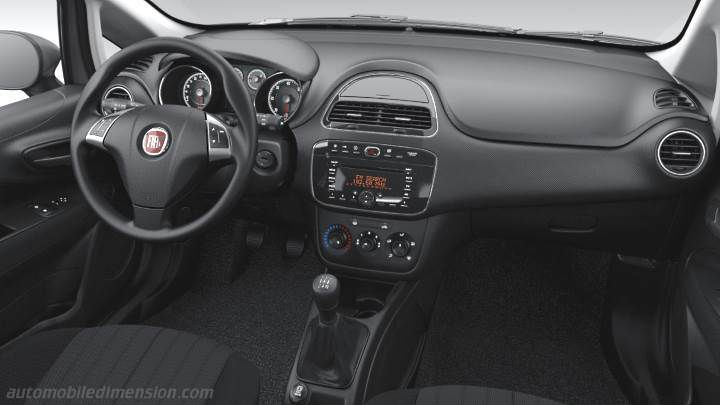 Fiat Punto 2012 dimensions, boot space and interior