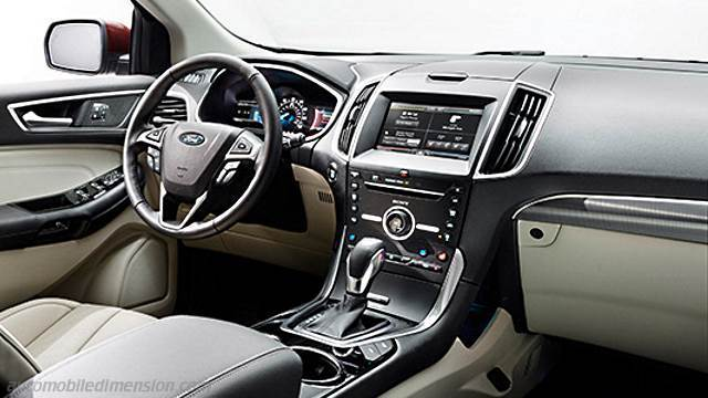 ford edge 2016 dimensions boot space and interior. Black Bedroom Furniture Sets. Home Design Ideas