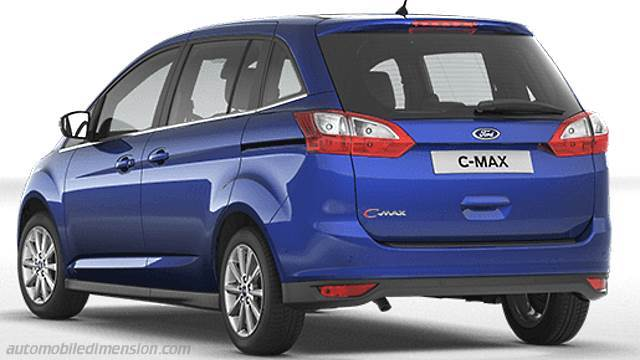 ford grand c max 2015 dimensions boot space and interior. Black Bedroom Furniture Sets. Home Design Ideas