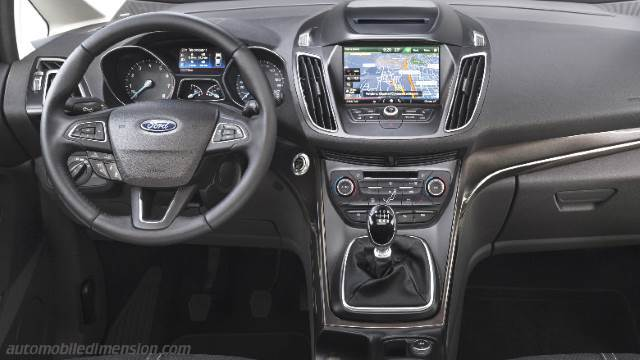 Ford Grand CMAX 2015 dimensions boot space and interior