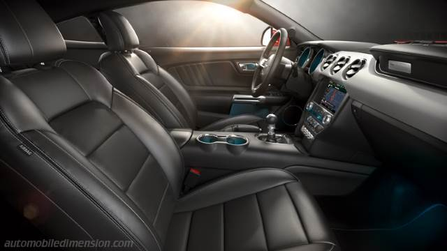 Ford mustang 2015 dimensions boot space and interior for 2015 mustang interior dimensions