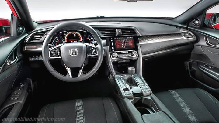 Honda Civic 2017 dimensions, boot space and interior