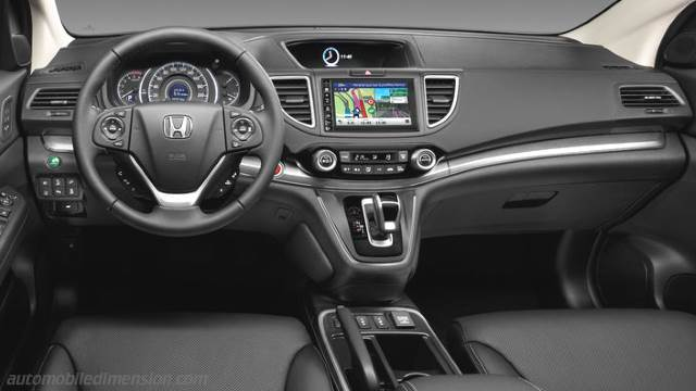Honda CR-V 2015 dimensions, boot space and interior