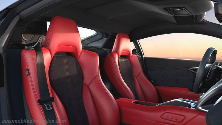 honda nsx 2017 dimensions boot space and interior. Black Bedroom Furniture Sets. Home Design Ideas