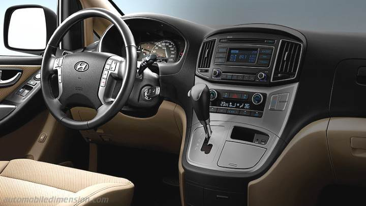Hyundai H-1 Travel 2015 dimensions, boot space and interior