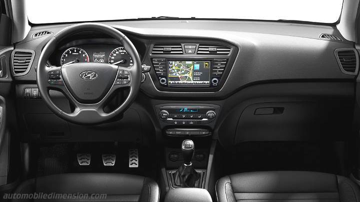 Dimensions hyundai i20 active 2016 coffre et int rieur for Interieur hyundai i20