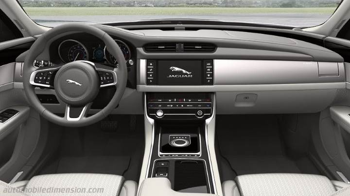 Jaguar XF 2016 dimensions, boot space and interior