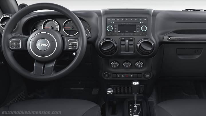 Dimensions jeep wrangler 2011 coffre et int rieur for Interieur jeep