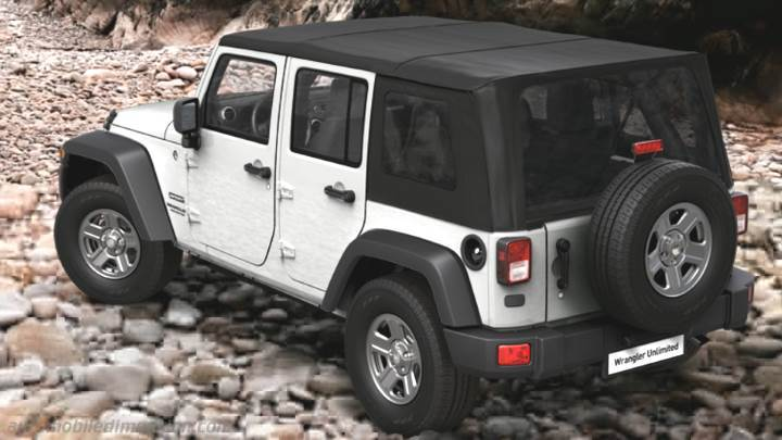 Jeep Wrangler Unlimited 2011 kofferbak