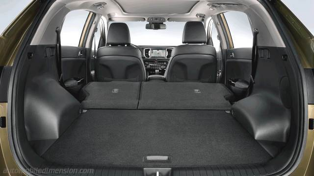 Kia Sportage 2016 Dimensions Boot Space And Interior