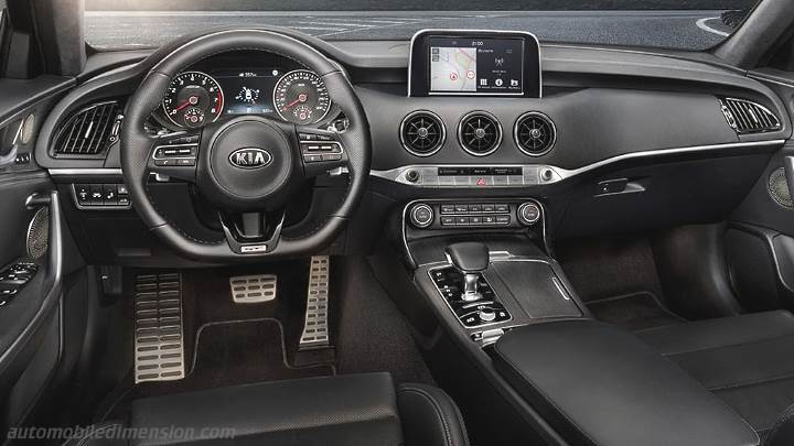 Kia Stinger 2018 Dimensions Boot Space And Interior