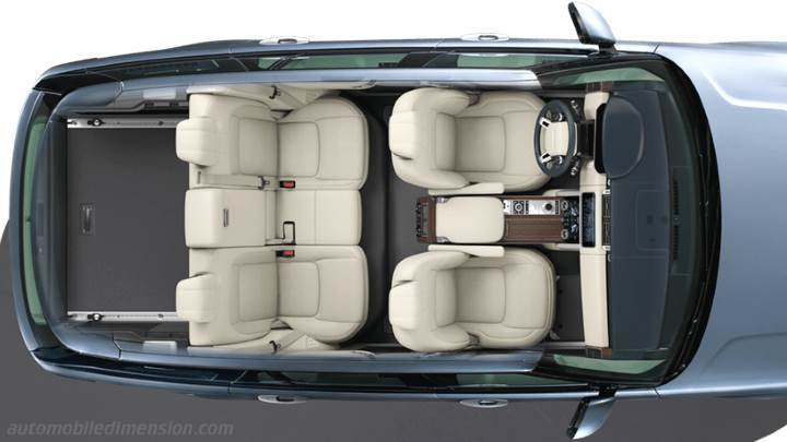 Land-Rover Range Rover 2018 dimensions, boot space and interior