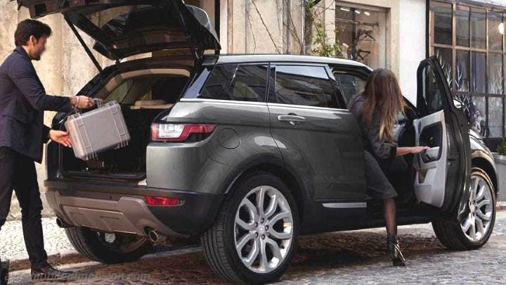 dimensions land rover range rover evoque 2015 coffre et int rieur. Black Bedroom Furniture Sets. Home Design Ideas