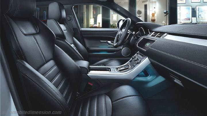 dimensions land rover range rover evoque 2015 coffre et. Black Bedroom Furniture Sets. Home Design Ideas
