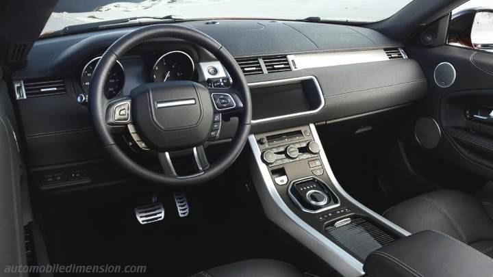 Dimensions land rover range rover evoque convertible 2016 for Interieur range rover evoque