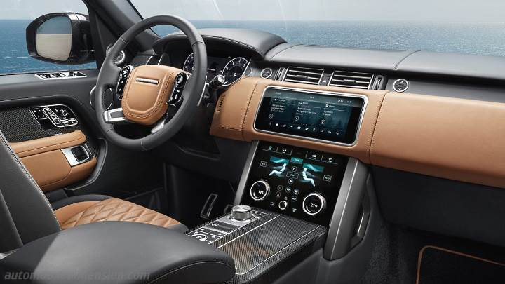 land rover range rover lwb 2018 dashboard zoom