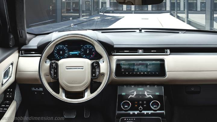 Suv Tesla Interior >> Land-Rover Range Rover Velar 2017 dimensions, boot space and interior