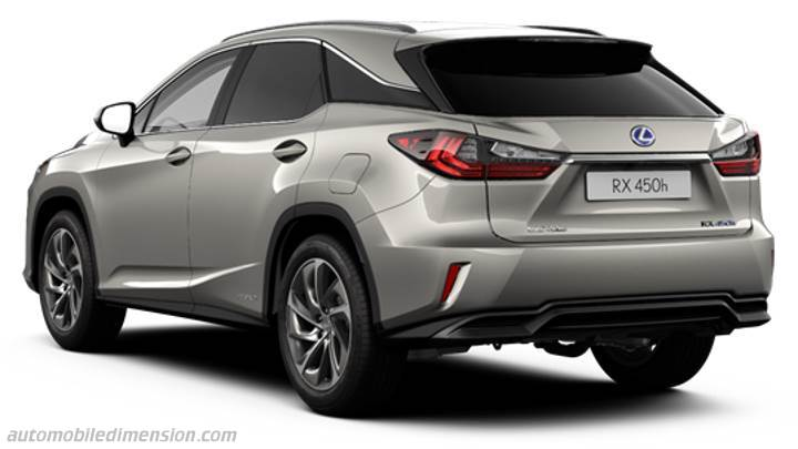 Lexus RX 2016 dimensions, boot space and interior