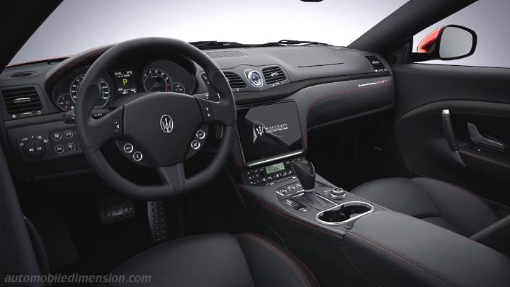 Maserati GranTurismo 2018 dimensions, boot space and interior