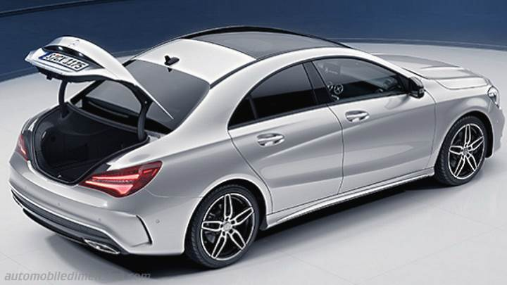 mercedes benz cla coup 2016 dimensions boot space and interior. Black Bedroom Furniture Sets. Home Design Ideas
