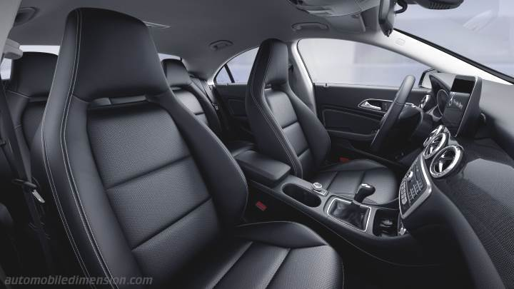 MercedesBenz CLA Coup 2016 dimensions boot space and interior