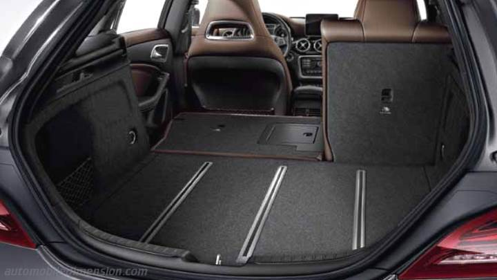 dimensions mercedes benz cla shooting brake 2016 coffre et int rieur. Black Bedroom Furniture Sets. Home Design Ideas