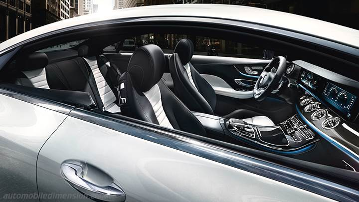 mercedes benz  coupe  dimensions boot space  interior