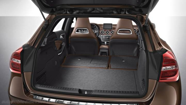 dimensions mercedes benz gla 2014 coffre et int rieur. Black Bedroom Furniture Sets. Home Design Ideas