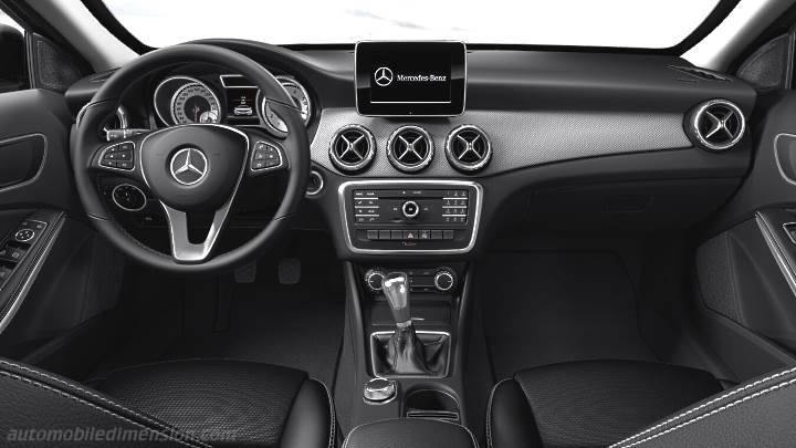 Mercedes-Benz GLA 2014 dimensions, boot space and interior