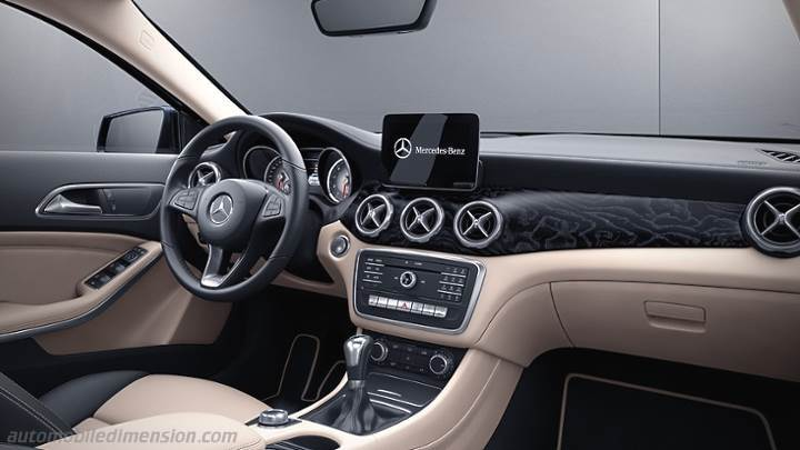 Mercedes-Benz GLA 2017 dimensions with photos of the interior and boot ...