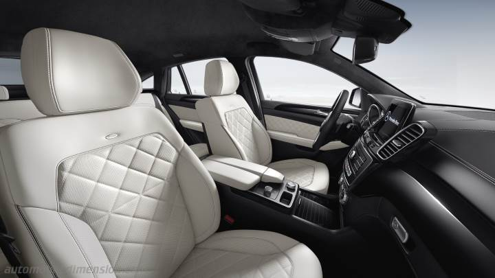 dimensions mercedes benz gle coup 2015 coffre et int rieur. Black Bedroom Furniture Sets. Home Design Ideas