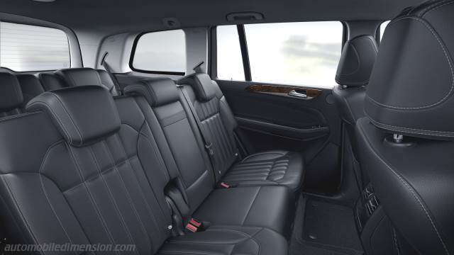 Mercedes-Benz GLS 2016 dimensions, boot space and interior