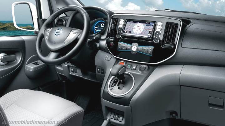 Nissan Nv Passenger >> Nissan Evalia 2012 dimensions, boot space and interior