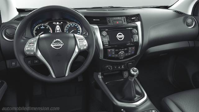 Nissan NP300 Navara 2016 dimensions, boot space and interior