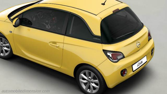 opel adam 2013 dimensions boot space and interior. Black Bedroom Furniture Sets. Home Design Ideas