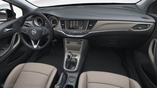Opel Astra 2016 dimensions, boot space and interior