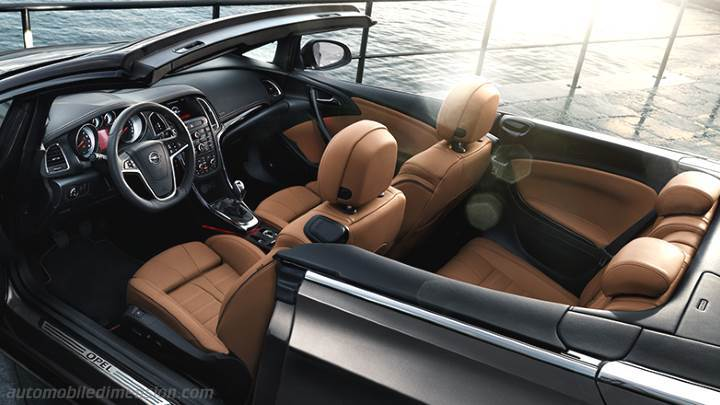 Opel Cascada 2013 dimensions, boot space and interior