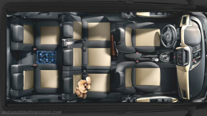 Opel Combo Tour 2012 dimensions, boot space and interior