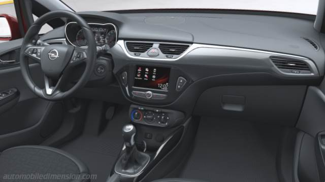 Opel Corsa 3p 2015 dimensions, boot space and interior