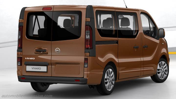 dimensions opel vivaro combi 2015 coffre et int rieur. Black Bedroom Furniture Sets. Home Design Ideas