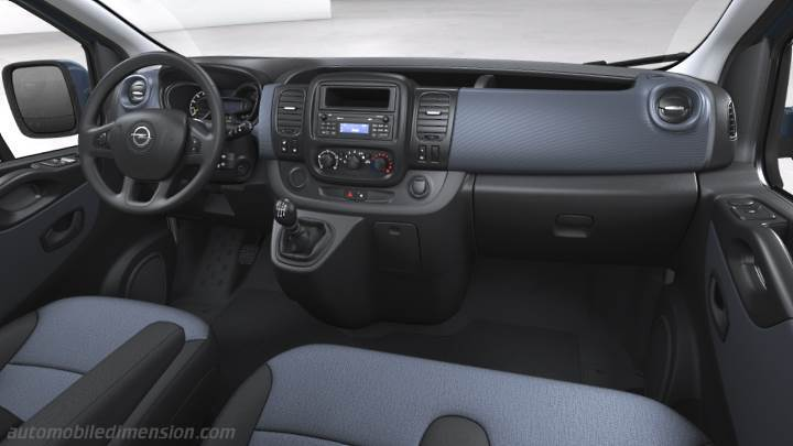 Opel Vivaro Combi lg 2015 dimensions, boot space and interior