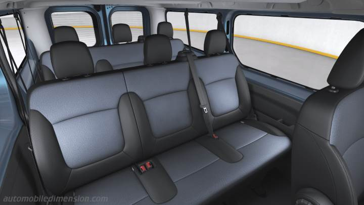 dimensions opel vivaro combi lg 2015 coffre et int rieur. Black Bedroom Furniture Sets. Home Design Ideas