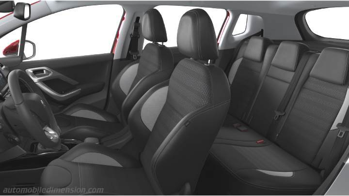Dimensions peugeot 2008 2016 coffre et int rieur for Interieur peugeot 2008
