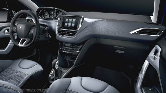 Peugeot 208 2015 dimensions, boot space and interior